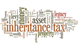 image of a words associated with estate tax